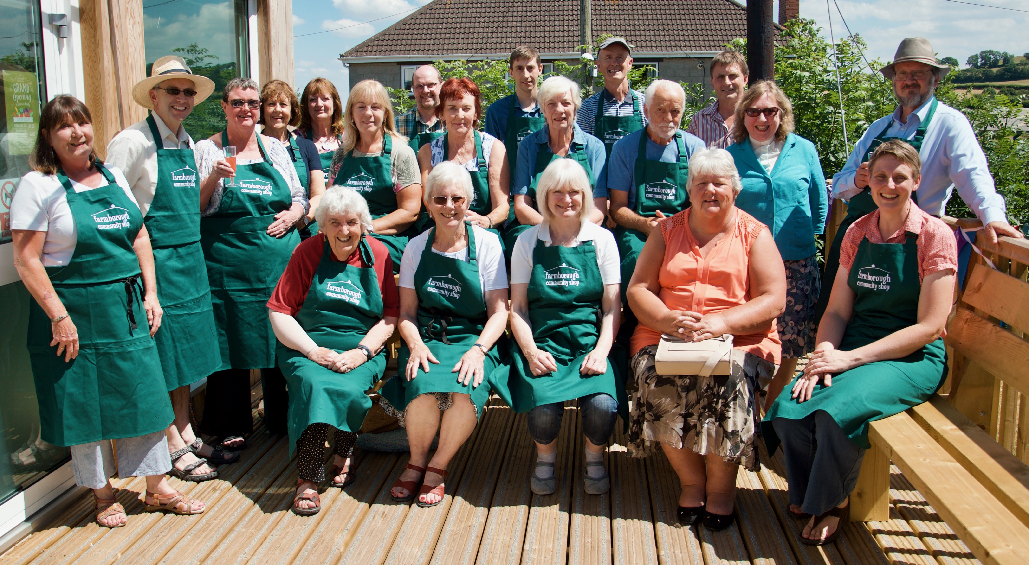 Resident 'royal' and local celebrity open community shop