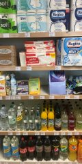 Household goods and soft drinks
